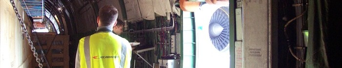 in the airplane